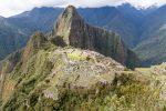 Blick über Machu Picchu auf den Berg Huayna Picchu