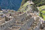 Steinhäuser in Machu Picchu