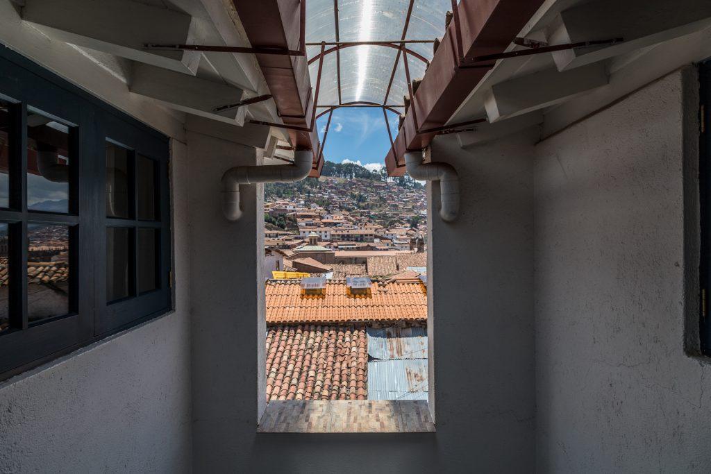 Blick vom offenen Flur über Cusco