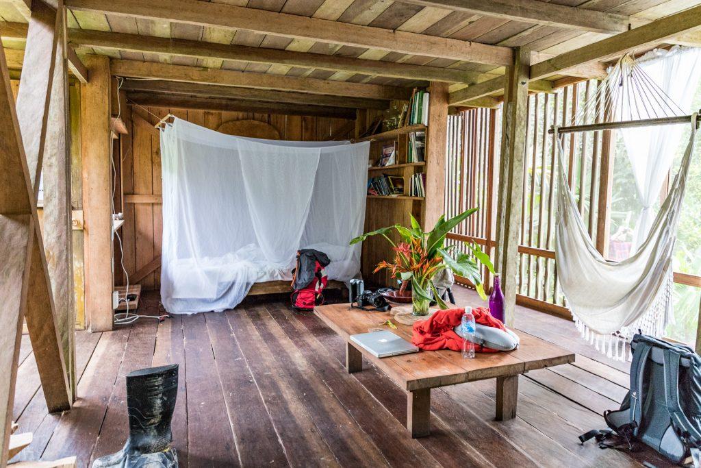 Cabana in der Calanoa Jungle Lodge
