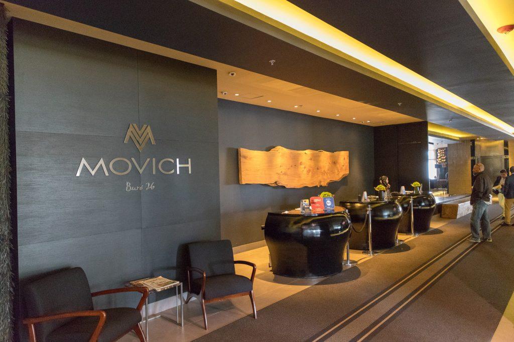 Die Lobby im Hotel Movich Buró 26 in Bogotá