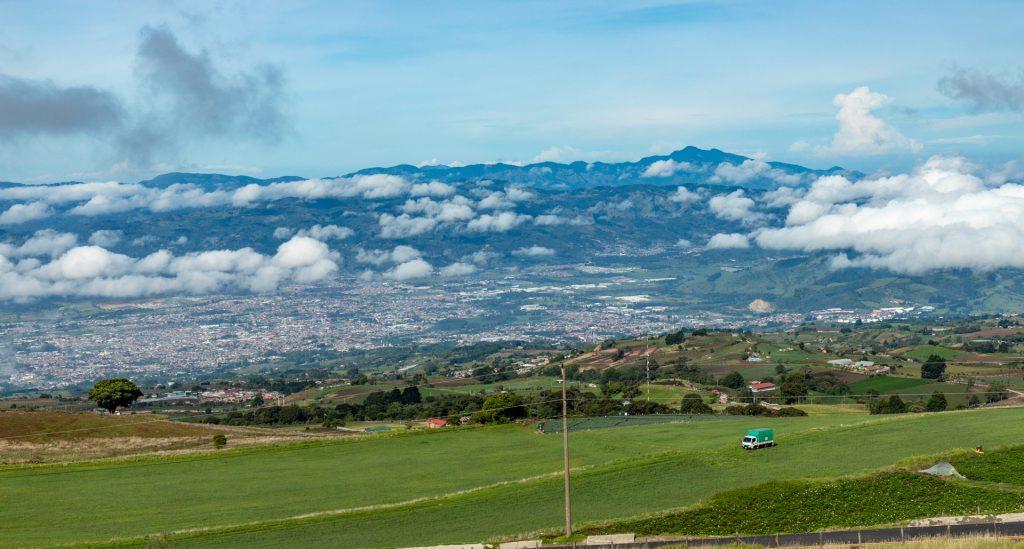 Blick auf Carthago in Costa Rica