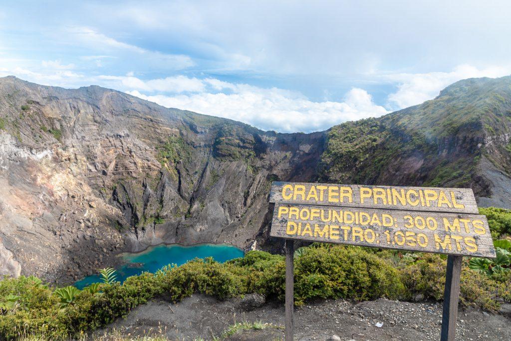 Kratersee vom Vulkan Irazú in Costa Rica