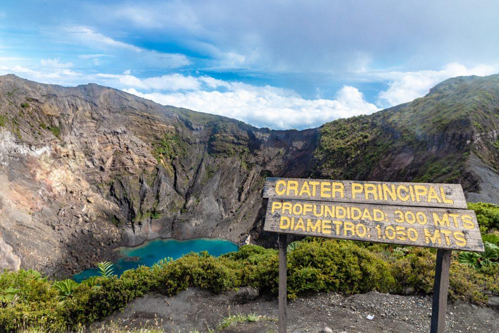 Vulkan Irazú - Krater Cráter Principal