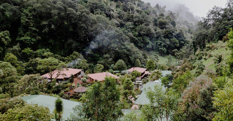 Blick über die Trogon Lodge in San Gerardo de Dota, Costa Rica