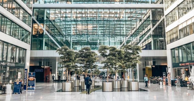 The Squaire am Flughafen Frankfurt - perfekt für einen Sack