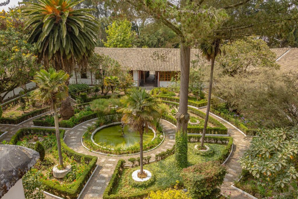 Der Patio der Hacienda La Ciénega