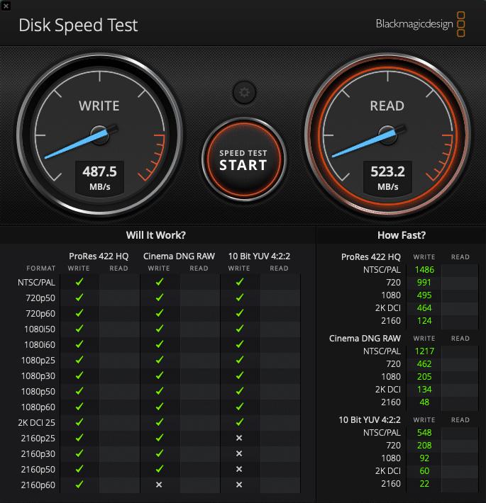 SanDisk Extreme Portable SSD - Geschwindigkeitstest