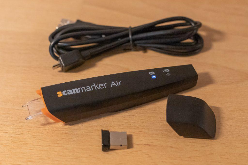 Übersichtliches Zubehör beim Scanmarker Air