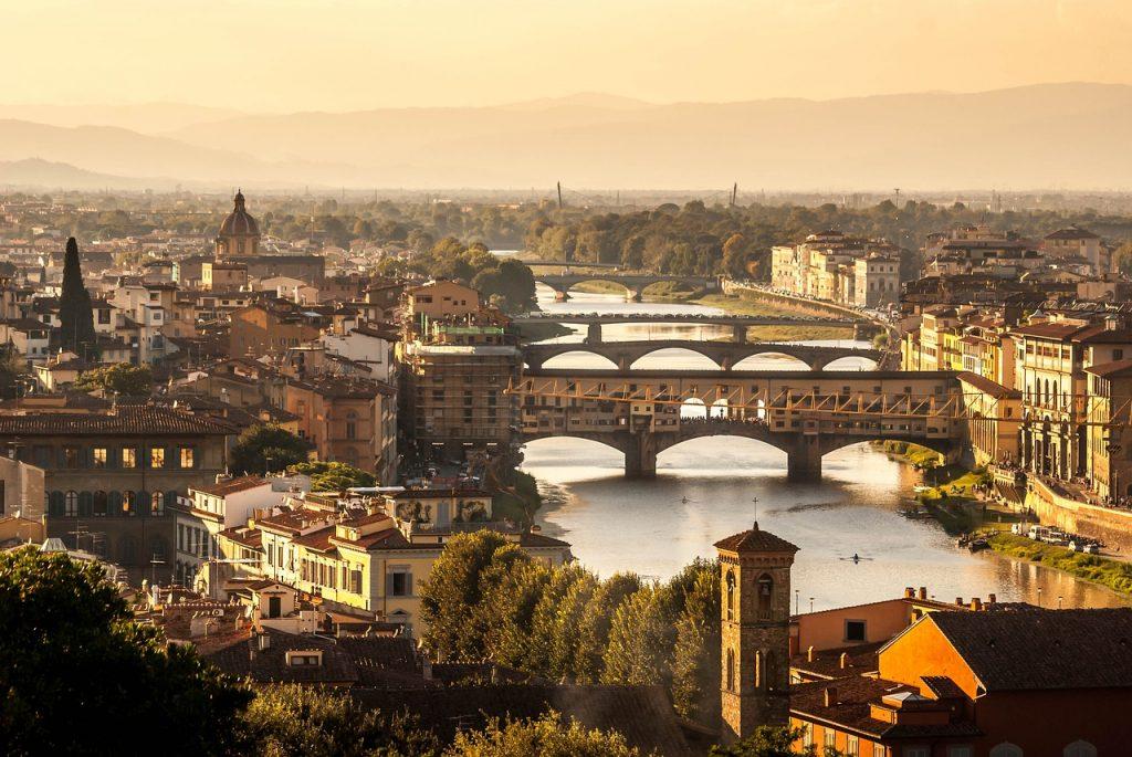 Traumhafte Abendstimmung in Florenz