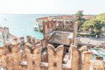 Blick von der Burg zur Landzunge