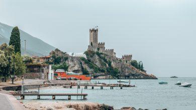 Die Scaligerburg - direkt am Ufer vom Gardasee