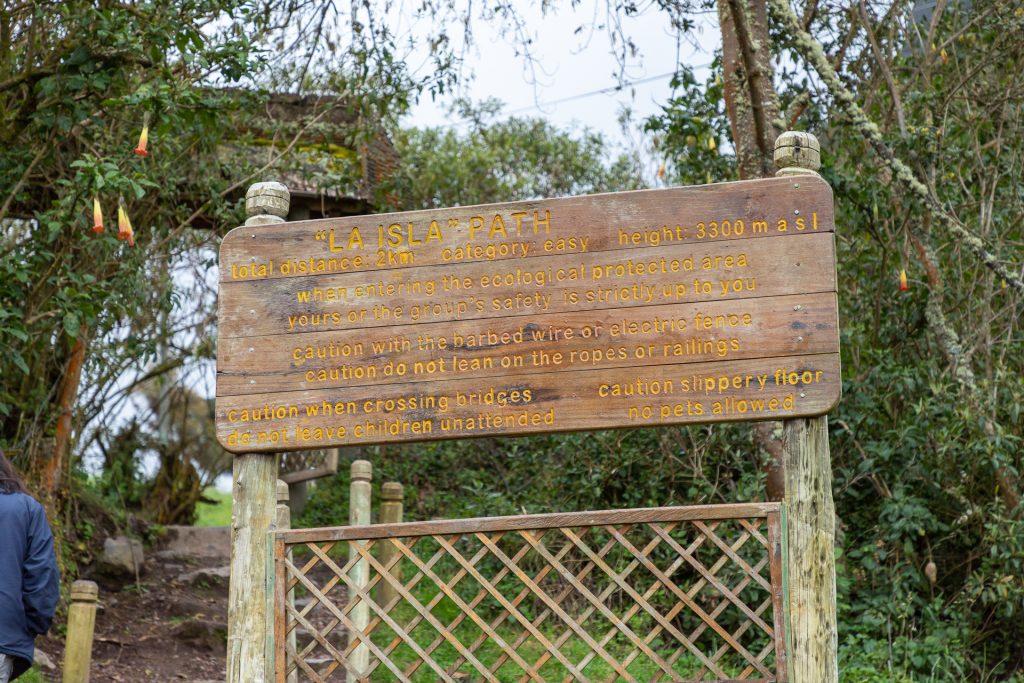 Wanderpfad bei den Termas de Papallacta