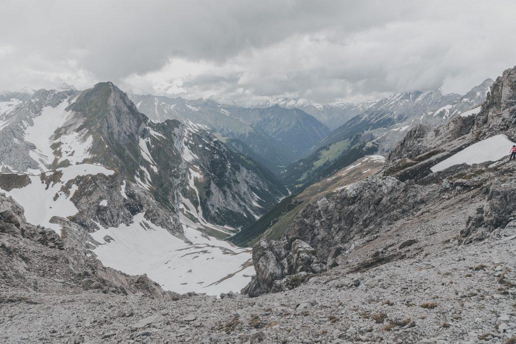 Blick vom Leiterjöchl nach Madau