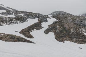 Die letzten Schneefelder unter Württemberger Haus