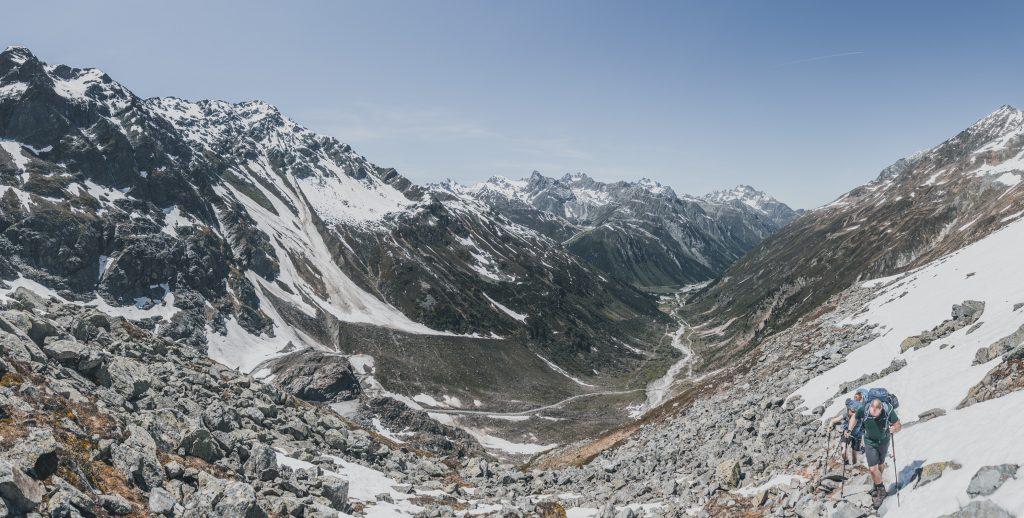 Blick zurück zum Gletscherstübele