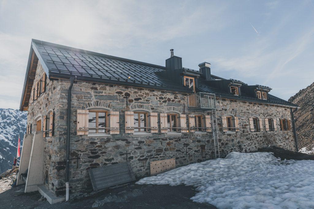 Die Braunschweiger Hütte am E5
