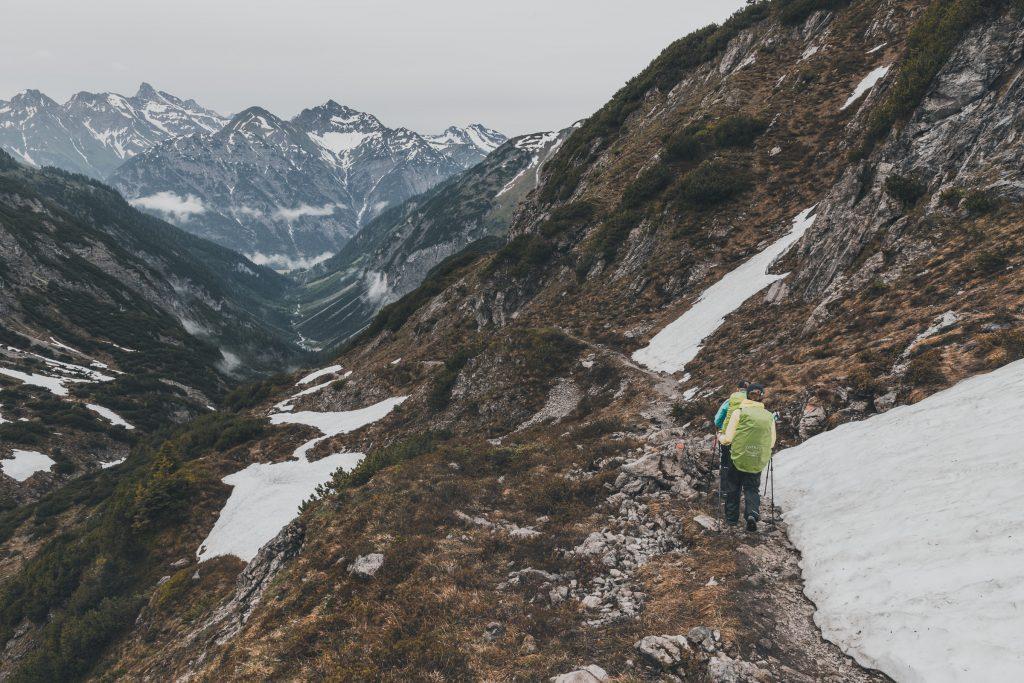Abstieg von der Kemptener Hütte nach Holzgau