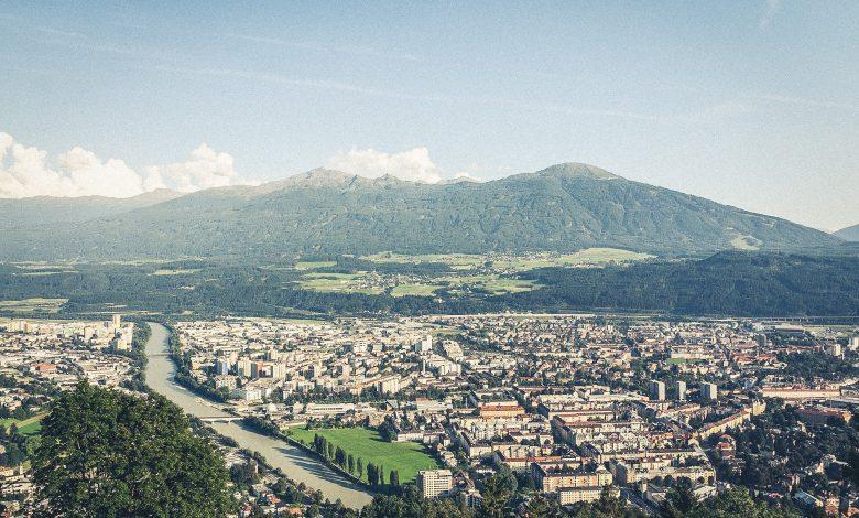 Blick auf Innsbruck und Umgebung