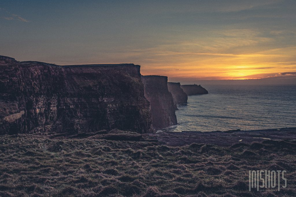 Sonnenuntergang an den Cliffs of Moher