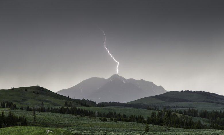 Gewitter im Gebirge