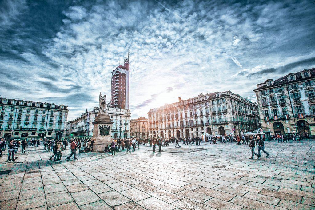 Die Piazza Castello in Turin