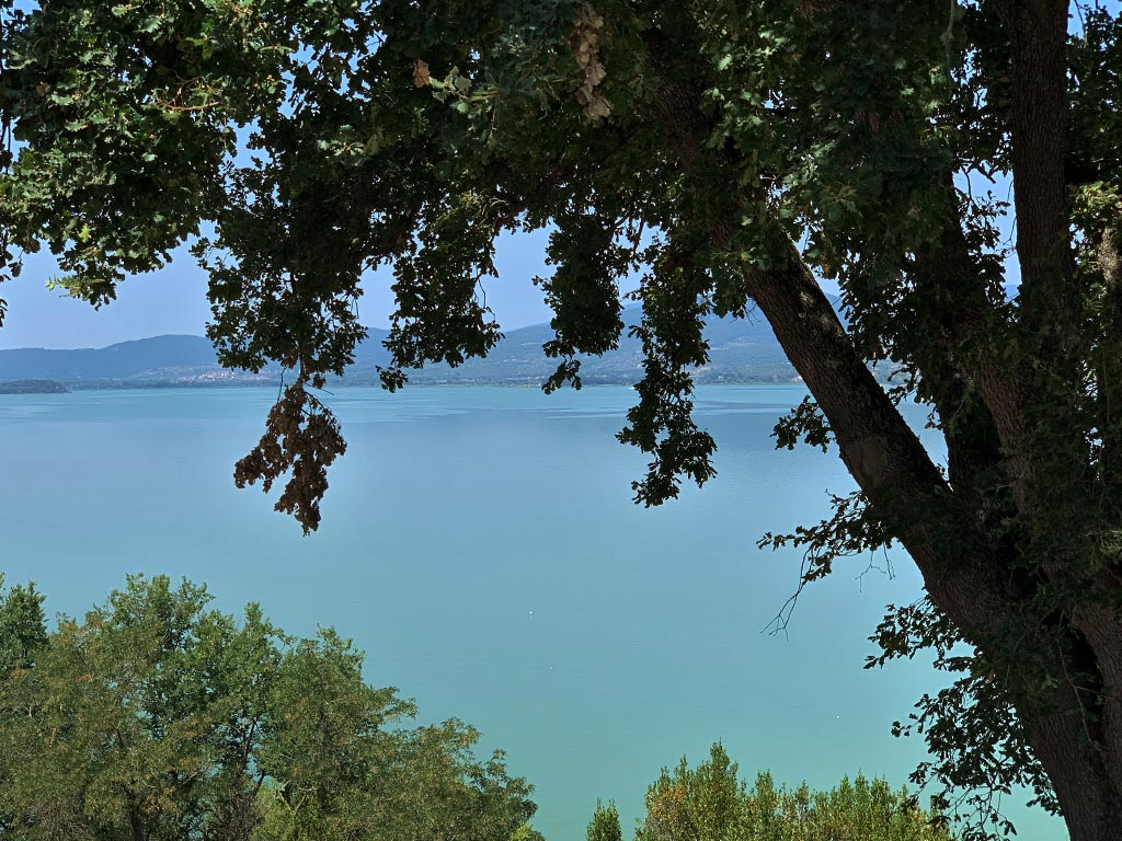 Blick von Monte de Lago Trasimeno