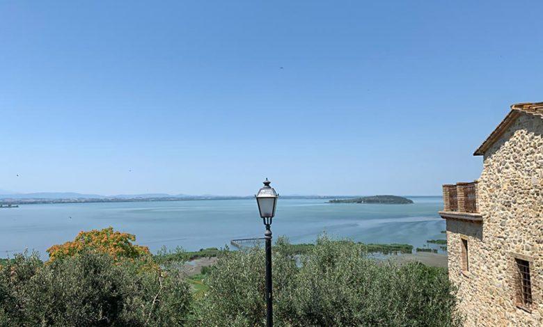 Lago Trasimeno von San Savino aus