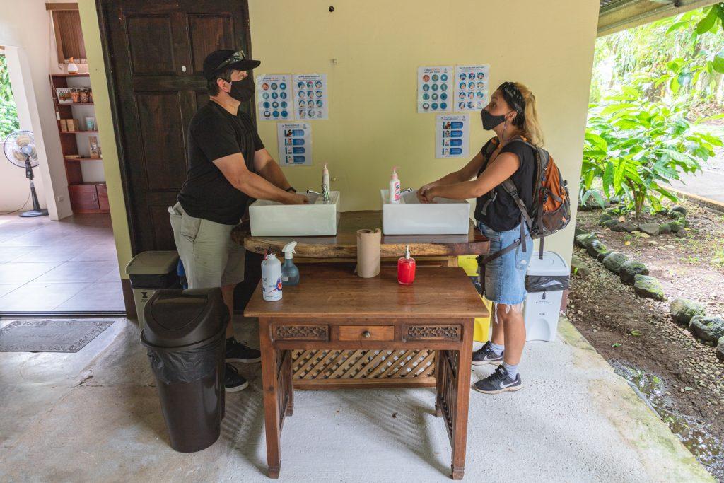 Handhygiene wird in Costa Rica sehr groß geschrieben