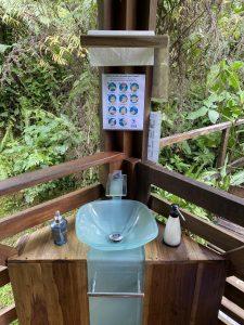 Selbst im Urwald wird auf Handhygiene