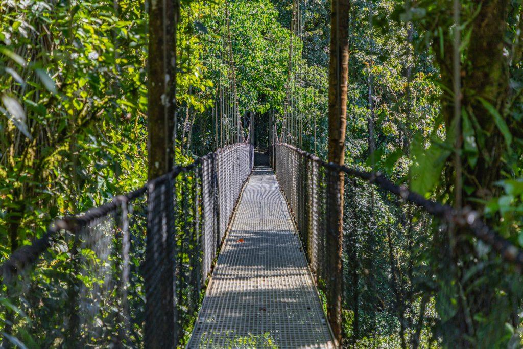 Hängebrücke bei La Fortuna in Costa Rica