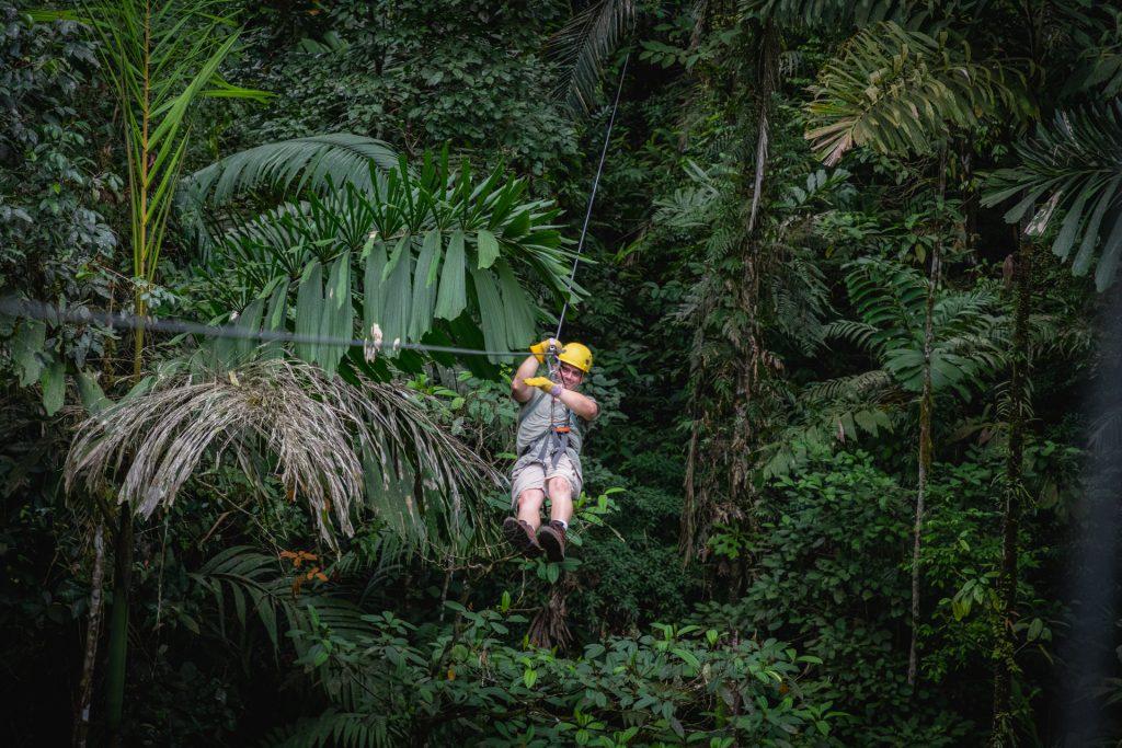 Zipline im Urwald von Costa Rica