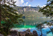 Der Eibsee in Bayern